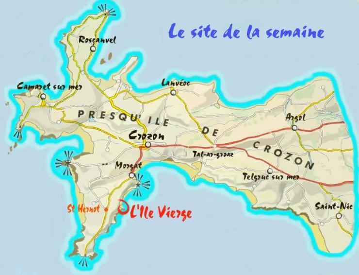 Carte Bretagne Presquile De Crozon.Crozon Presqu Ile De Crozon Galerie De Photos L Ile Vierge